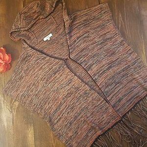(Umgee) Knit Long Sweater Vest / Shaw / Kimono